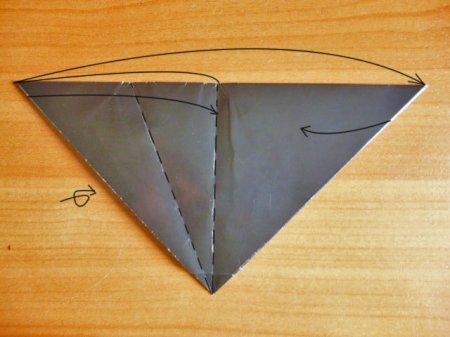 когти оригами из бумаги