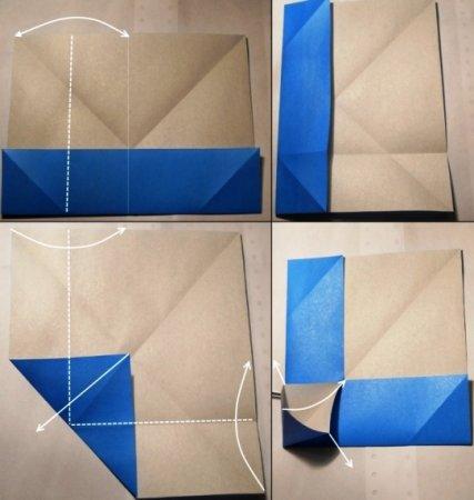схема оригами кобра