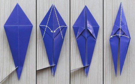 как сделать ирис из бумаги
