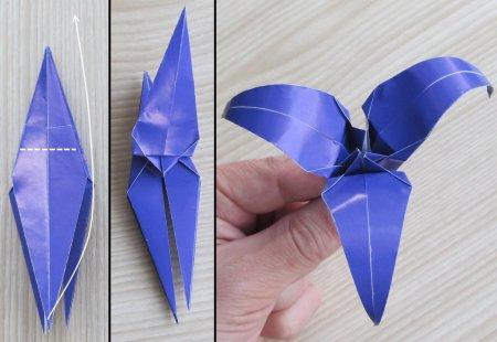 оригами ирис схема