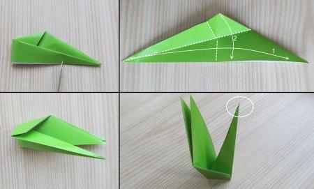оригами ирис схема.